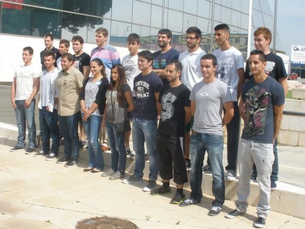 Alumnes que estudiaran el primer cicle de FP dual transnacional gràcies a un conveni de BASF i l'IES Comte de Rius