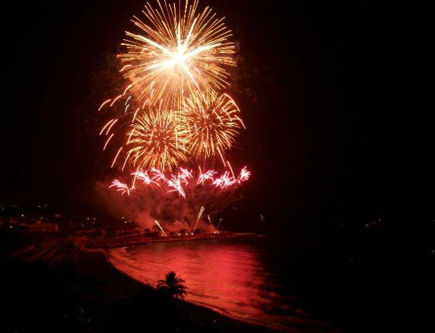 Imatge d'un castell de focs en una edició anterior del Concurs de Tarragona (foto: Mª Pilar Veciana)