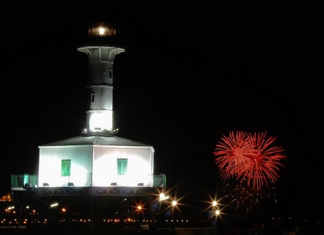 Fotografia realitzada per Francesc Domènech la nit de divendres passat des de l'Escullera del Port de Tarragona